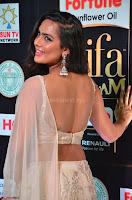 Prajna Actress in backless Cream Choli and transparent saree at IIFA Utsavam Awards 2017 0021.JPG