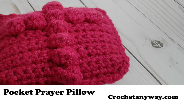 crochet prayer pillow