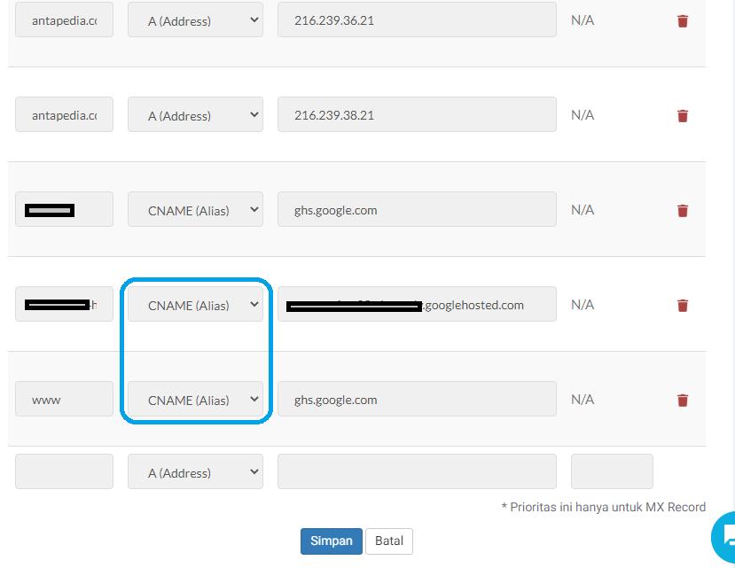 Membuat subdomain yang disambungkan ke Blogspot dan cara setting CNAME nya | 100% Work