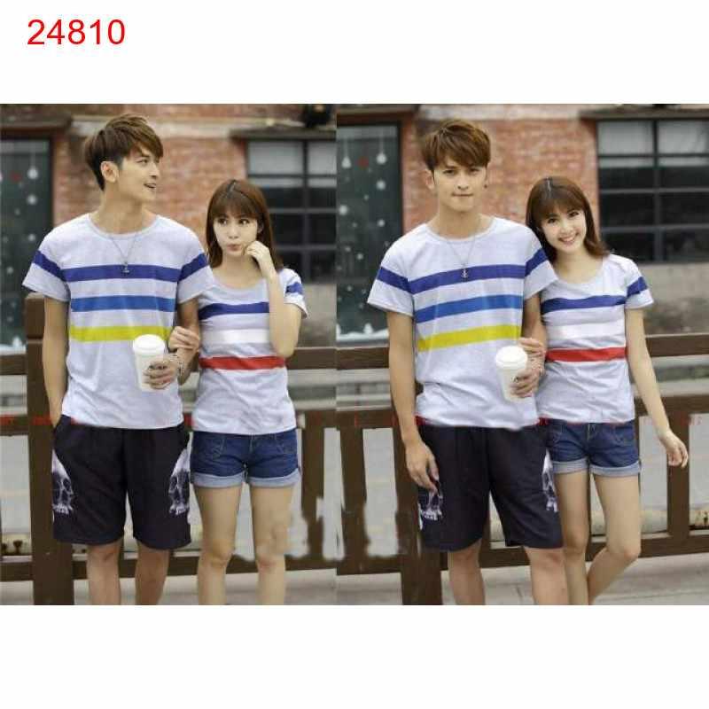 Jual Baju Couple Cherry Grey - 24810
