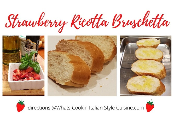 how to make a dessert bruschetta with a collage of photos