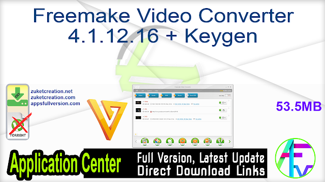 Freemake Video Converter 4.1.12.16 + Keygen
