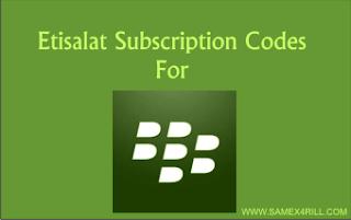 etisalat blackberry subscriptions