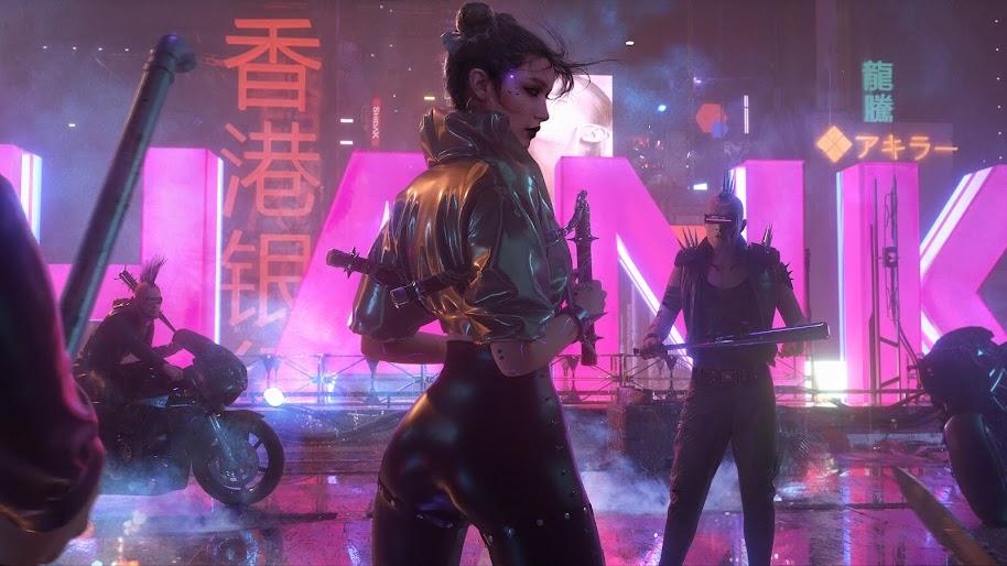 Cyberpunk, Girl, Sci-Fi, 4K, #72