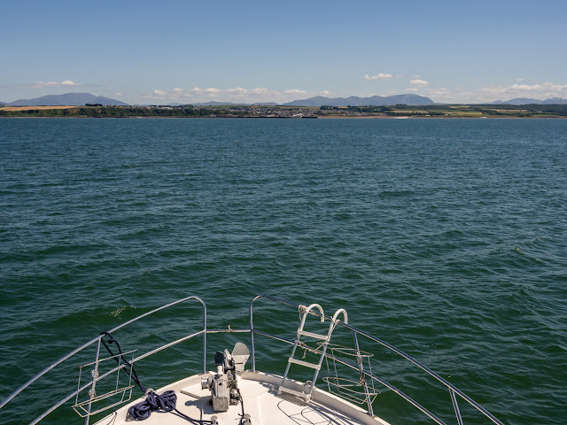 Photo of my view from Ravensdale's flybridge on the way back to Maryport