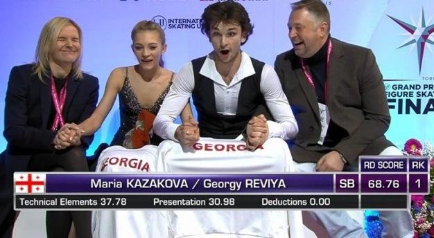 Историческая победа грузинской пары в финале Гран-при танцев на льду в Турине
