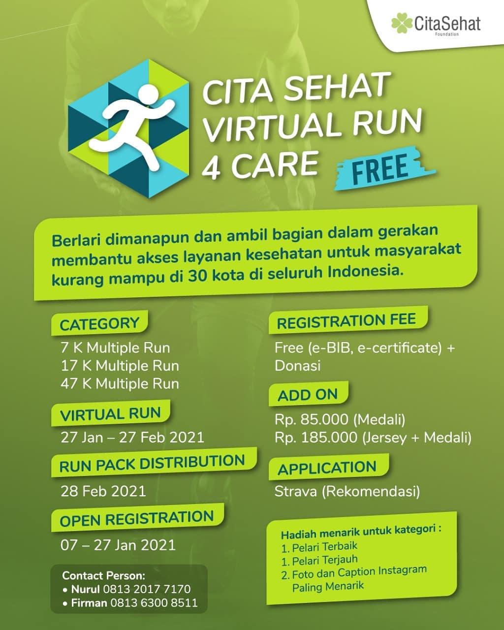 Cita Sehat Virtual Run 4 Care • 2021