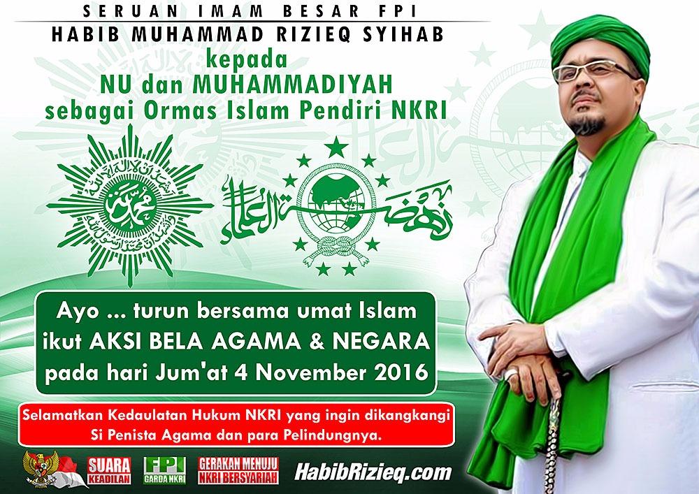 Seruan Imam Besar Fpi Kepada Nu Muhammadiyah Habibrizieq Com