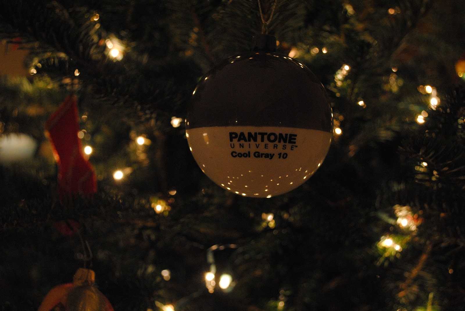Pantone Christmas Ornaments A Perfect Gray Christmas Surprise