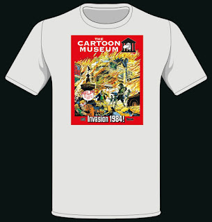 White t-shirt with comics cover on the front