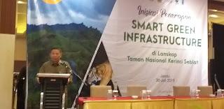 Kepala Balai Taman Nasional Kerinci Seblat Secara Resmi Membuka Inisiasi Penerapan Smart Green Infrastructure Di Lanskap Taman Nasional Kerinci Seblat