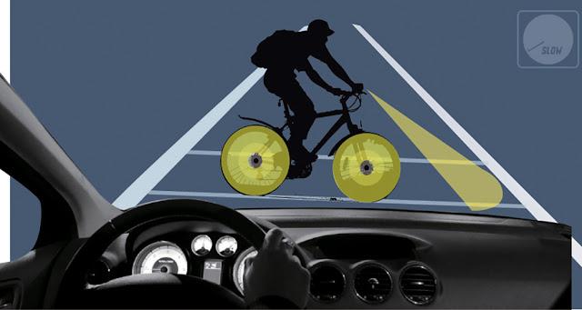 Teknologi Lampu LED Pada Roda Sepeda Membantu Mengurangi Kecelakaan di Malam hari