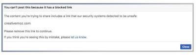 How to unblock your website URL from Facebook | Newsrock Reporters