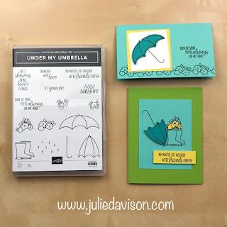 "16 Alternative ""Get & Go"" Project Ideas ~ Stampin' Up! Under my Umbrella Cards ~  www.juliedavison.com #stampinup"