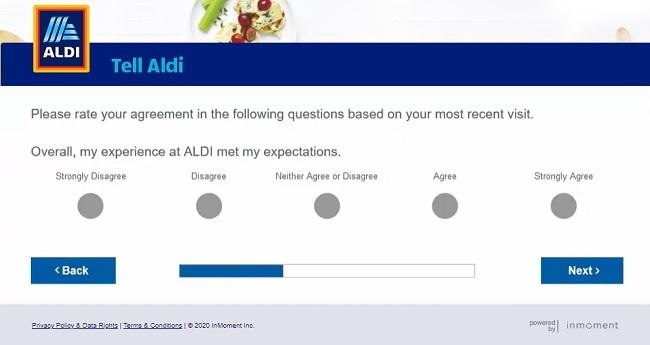 aldi code for survey