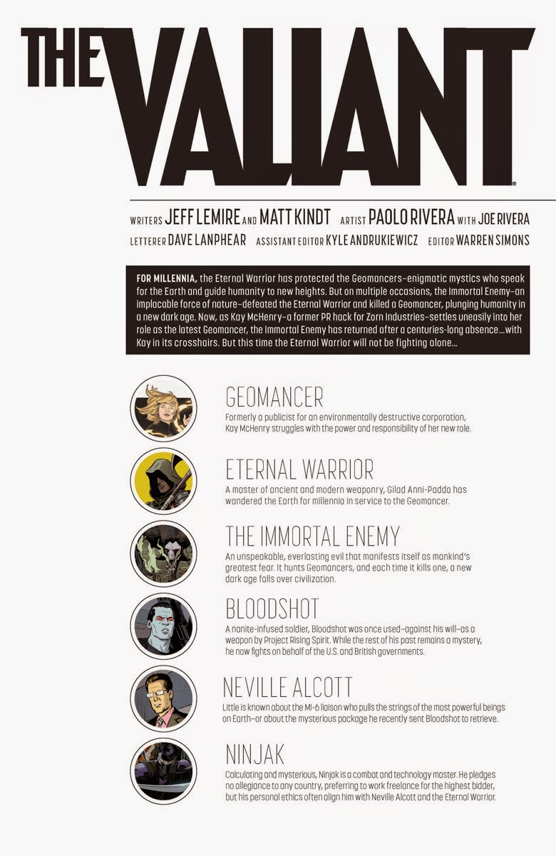 Comic Review: THE VALIANT #2 (of 4) [VALIANT NEXT] | I Smell