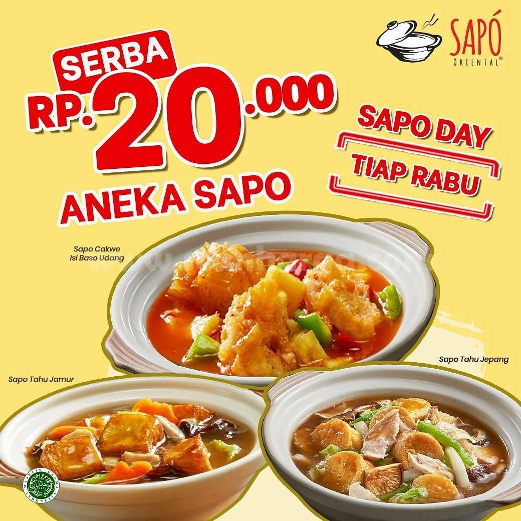 SAPO ORIENTAL Promo SAPO DAY Setiap RABU