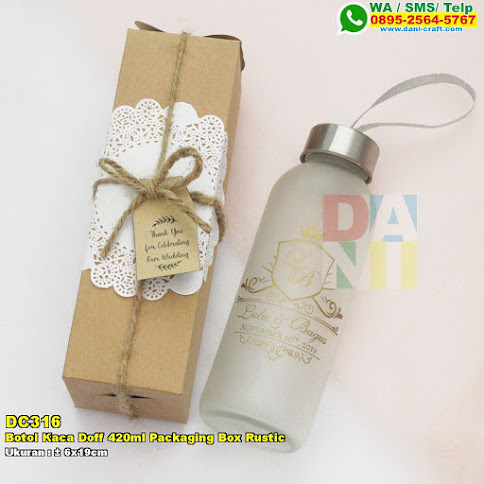 Botol Kaca Doff 420ml Packaging Box Rustic