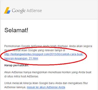 Solusi III Setelah ditolak Google AdSense