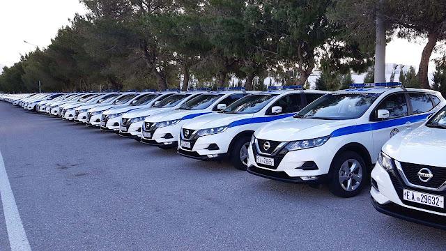 62 νέα περιπολικά εντάχθηκαν στον στόλο της Ελληνικής Αστυνομίας