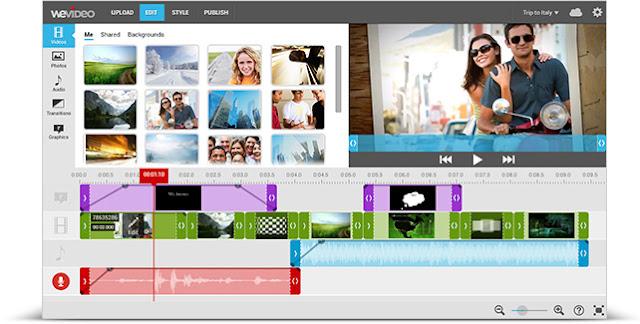 wevideo, 5 website Terbaik untuk Membuat Presentasi Video Online