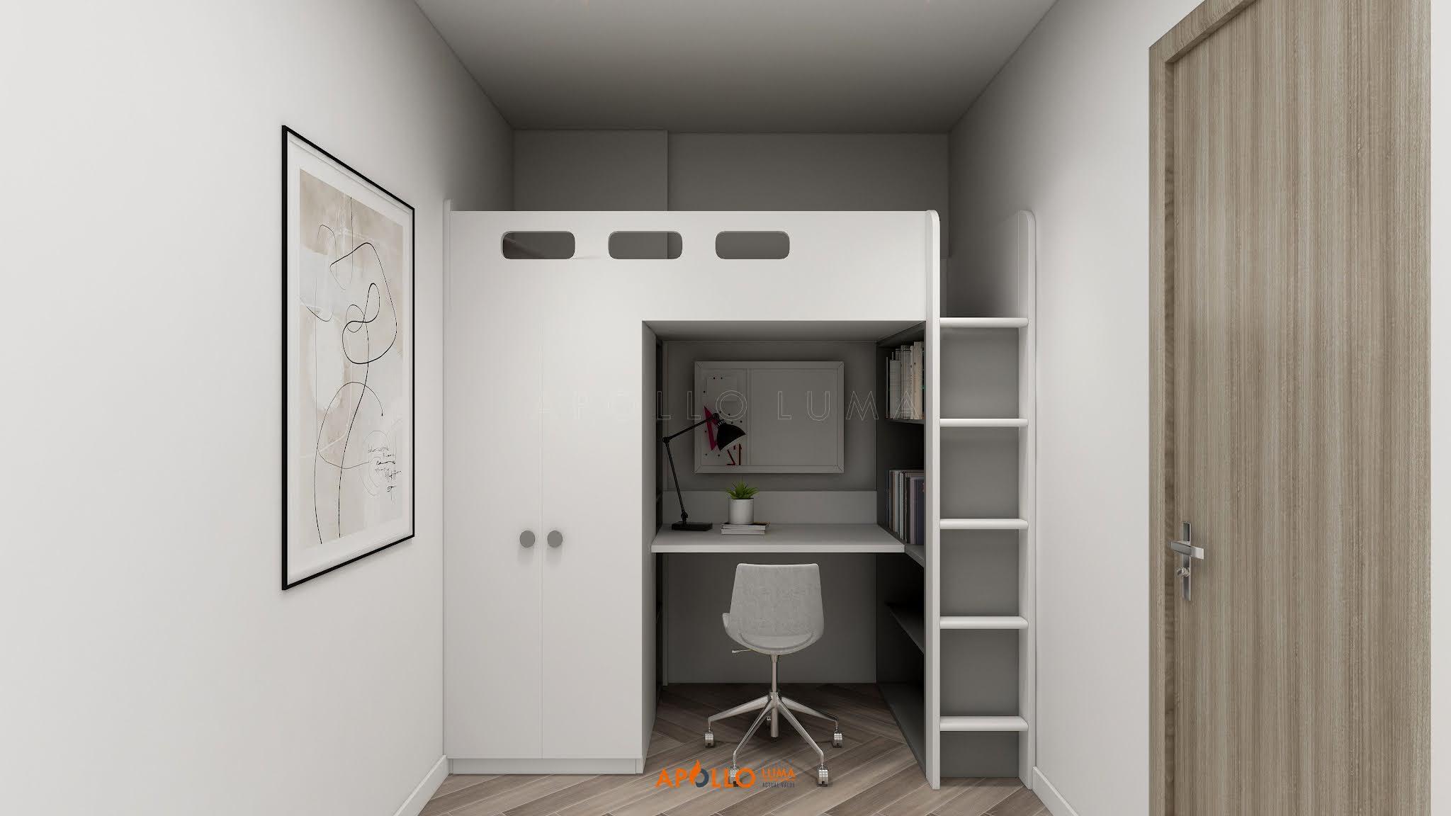 Thiết kế nội thất căn hộ 1PN+1 (43m2) S2.12-02 Vinhomes Ocean Park Gia Lâm