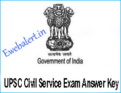UPSC Civil Service Exam Answer Key