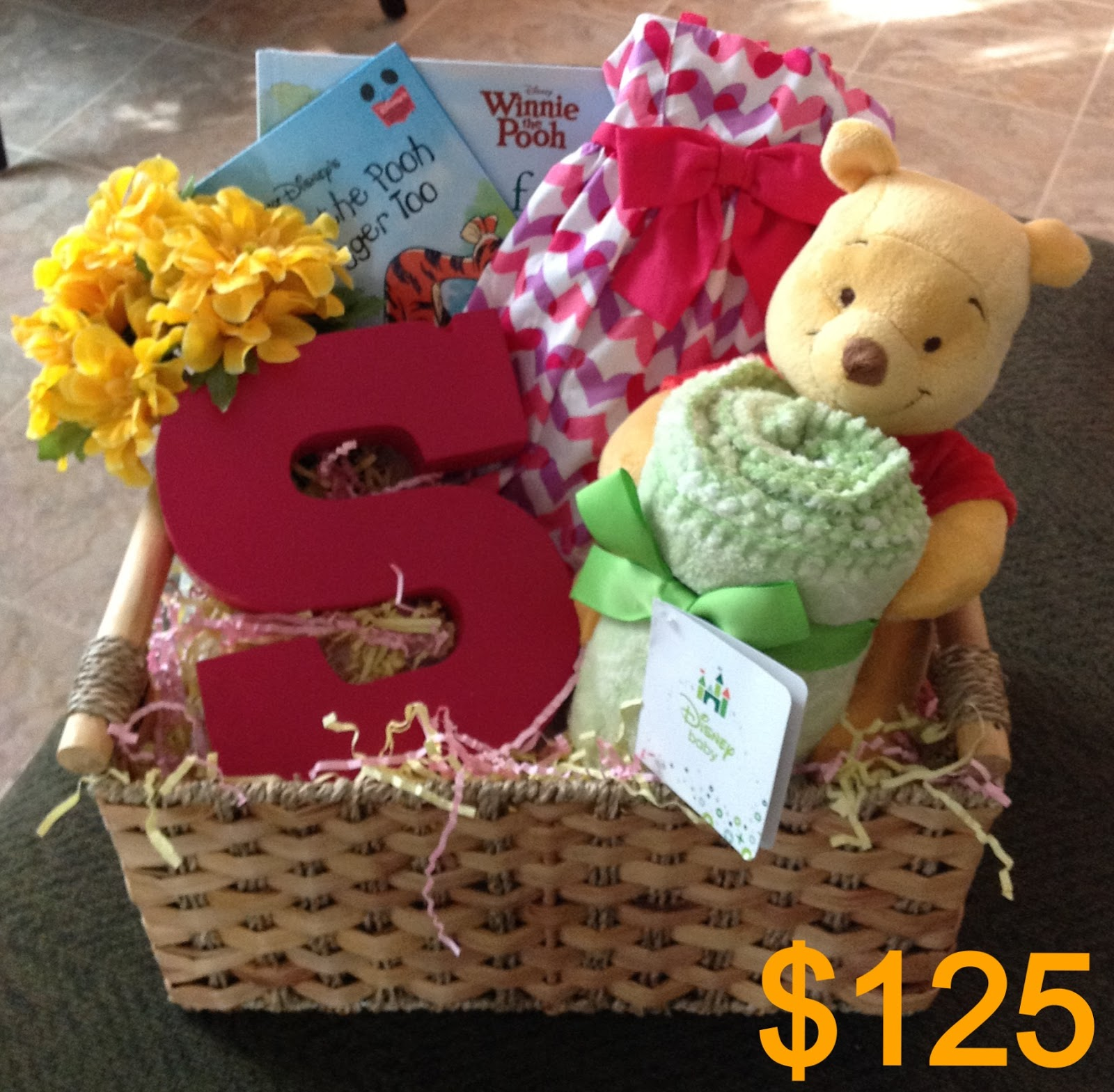 athalia 39 s gift baskets shop baby girl basket winnie the pooh theme. Black Bedroom Furniture Sets. Home Design Ideas