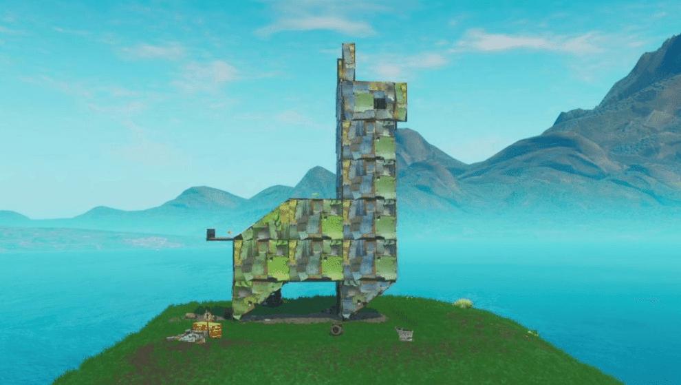 """""""Fortnite"""" Fortbyte # 21: Location Found Inside A Metal Llama Building"""