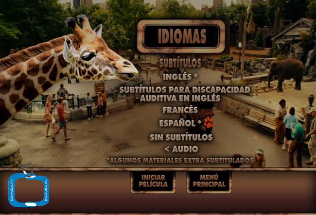 Zookeeper [El Guardian del Zoologico] 2011 [DVDR Menu Full] Español Latino [ISO] NTSC