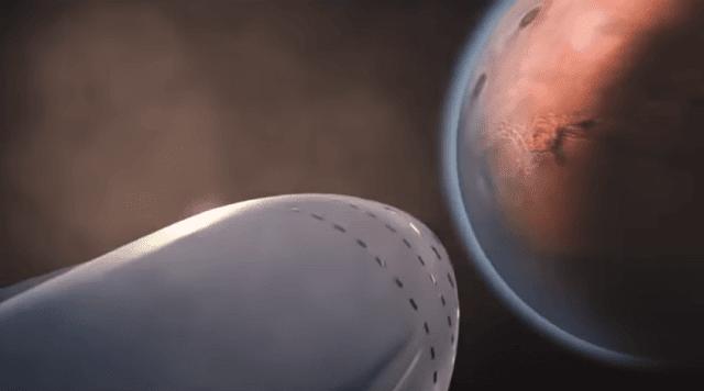 بنية سبيس إكس التحتية للنقل المريخي