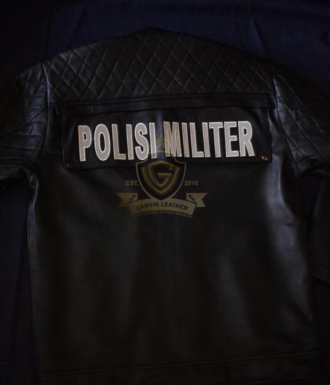 Jaket Kulit Militer