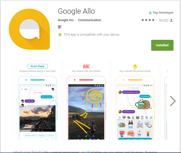 Say hello to Google Allo a new chat app which is smarter
