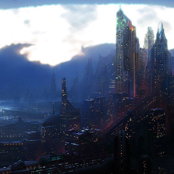 Future City Landscape Wallpaper Engine
