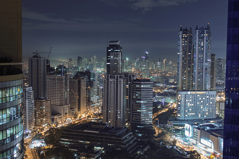 Mandaluyong and Ortigas at Night by V19 Neo