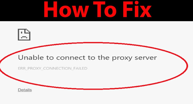 Unable to connect to the proxy server