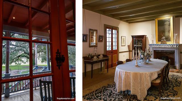 casa-grande da Laura Plantation, fazenda histórica da Luisiana, EUA