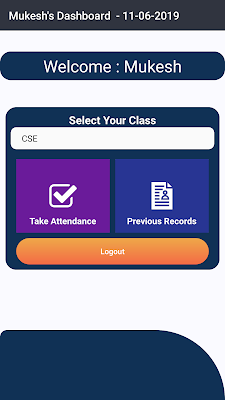 Ctrl_X: Attendance System Android app using Firebase