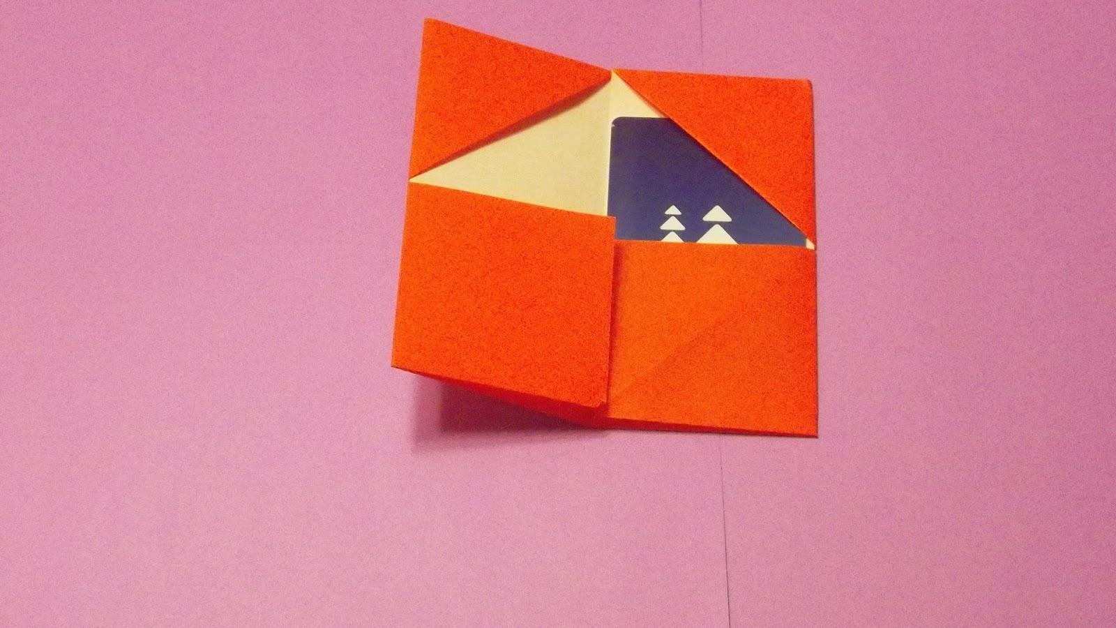 Origami card holder step 1 with your paper face down valley fold across and unfold jeuxipadfo Image collections