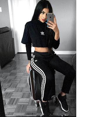 outfit deportivo negro juvenil casual de moda