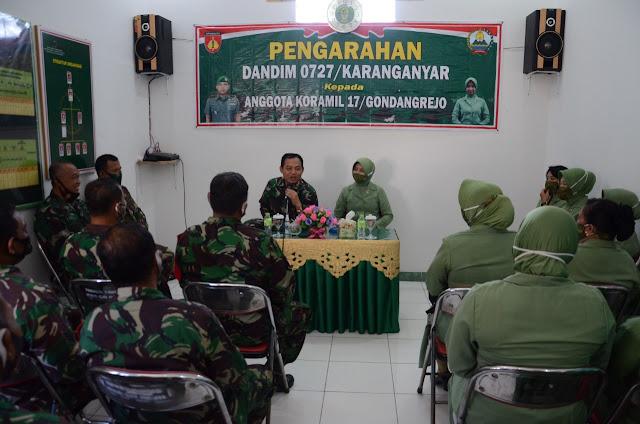 Kunjungan Kerja Ke Koramil 17/Gondangrejo Dandim Karanganyar Tekankan Anggota Jauhi NARKOBA