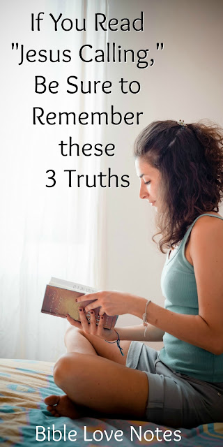 """IIf you read Sarah Young's popular books such as """"Jesus Calling,"""" these 3 truths can keep you from becoming deceived.#JesusCalling #GodCalling"""