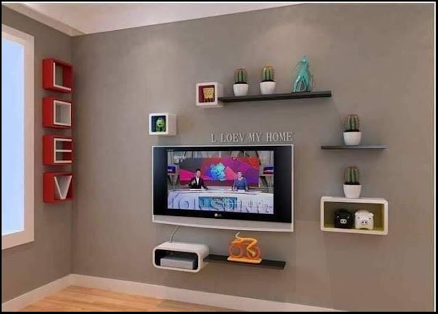 floating corner tv shelf