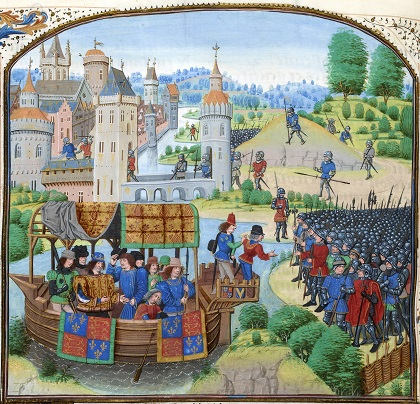 Scene from Jean Froissart's Chronicles