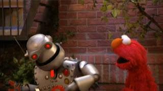 Memorybot and Elmo take a new walk. Sesame Street The Best of Elmo 2