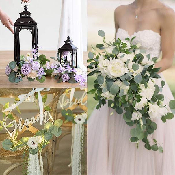 eucalyptus leaf wedding bridal bouquet