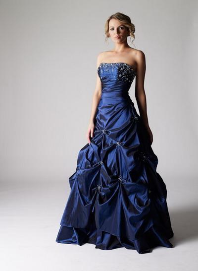 robes de mariage robes de soir e et d coration robe de soir e bleue nuit longue. Black Bedroom Furniture Sets. Home Design Ideas
