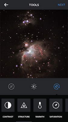 orion nebula in instagram