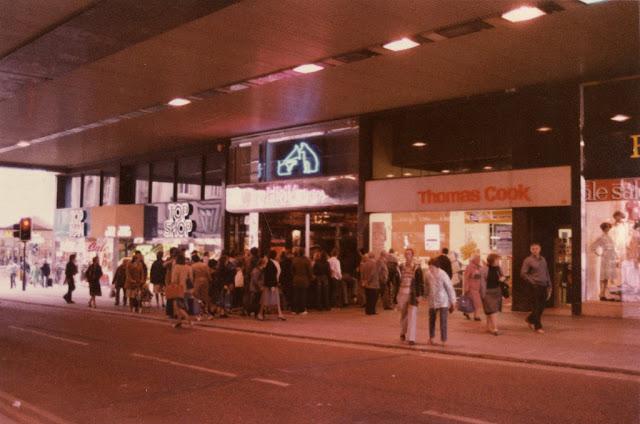 Old record shop p*rn HMV-store-1980s-11