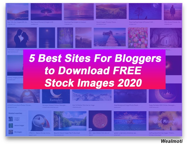 5 Best Sites For Bloggers to Download FREE Stock Images 2020